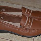 Hotter 38.5р туфли мокасины, кожаные. Англия