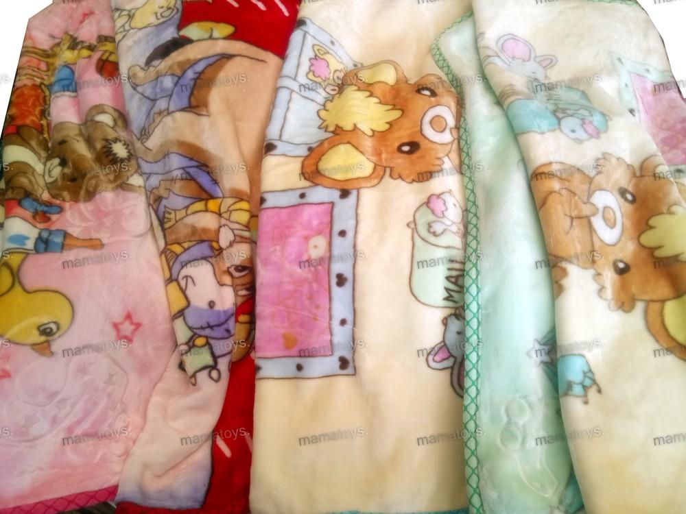 Детский плед одеяло велюр акрил двухсторонний 120х90 см фото №1