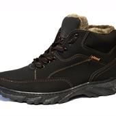 Мужские стильные ботинки на зиму (СБ-05)