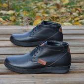 Ботинки Ecco на меху, натур кожа