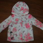 Фирменная George легкая куртка девочке от 0 до 6 месяцев хлопок