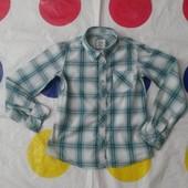 Красивая и стильная хб рубашечка на девочку 7-9 лет