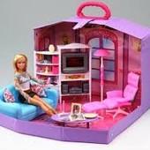 Набор мебели для куклы Гостиная 2014: мебель в чемоданчике