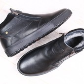 Ботинки зимние натуральная кожа 2 цвета В92812