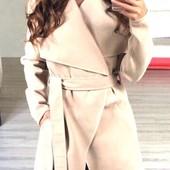 Элегантное женское кашемировое пальто-кардиган