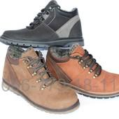 Ботинки зимние мужские кожаные, цвета