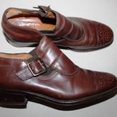 Кожаные Итальянские полуботинки/ботиночки 36-37 размер монки