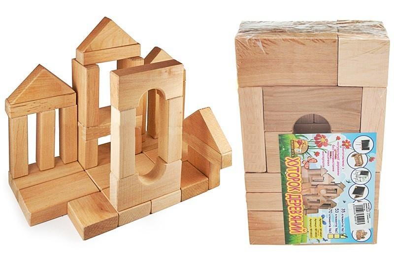 Конструктор деревянный Городок 006 фото №1