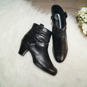 (38р./25см) Gabor! Кожа! Комфортные ботинки, сапоги, полусапожки