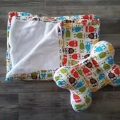 комплект детское одеяло и подушка