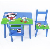 Стол и 2 стула для творчества Дора (2407-104)