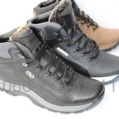 Зимние мужские кожаные спортивные ботинки, 3 цвета