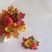Осенний бал , набор обруч и браслет или брошка