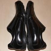 фирменные туфли-макасины нат.кожа