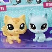 Два котенка набор Littlest Pet Shop Маленький Зоомагазин котята от hasbro кот кошка котенок