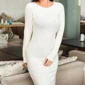 Стильное ангоровое женское платье