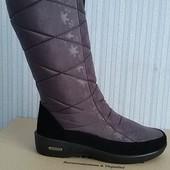 Женские зимние сапоги дутики. Фиолетовый. Элегантно, тепло и комфорт