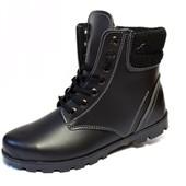 Женские зимние ботинки гладкая Кожа-Заменитель (АН-10)