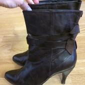 Кожаные сапожки andre,ботильоны на каблуке,ботинки,ботиночки+подарок
