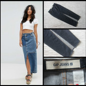 Gap.шикарная джинсовая юбка.макси.