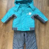 Теплый зимний костюм комбинезон Бэмби на 1,5-2 годика