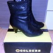 Модельные полусапожки (еврозима), бренд Golderr, 38 рр. Натуральная кожа и мех