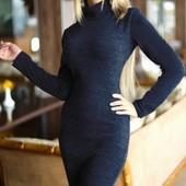 Элегантное ангоровое женское платье