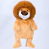 Детский плюшевый рюкзачок игрушка Львенок