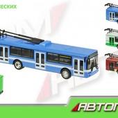Машина троллейбус металл Автопром 6407