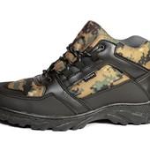Мужские зимние ботинки в расцветке хаки (ХБ-05)