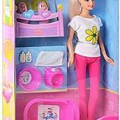 Кукла Defa  мама с малышами и аксессуар.,арт. 8213