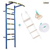 Sport Чемпион classic детская шведская стенка. Канат, кольца гимнастические и веревочная лестница.