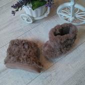 Меховые сапожки пинетки на 3-6 мес TU