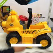 Детский квадрацикл- толокар с баскетбольным кольцом и 3-мя шариками 606CB желтый