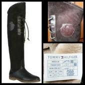 Фирменные кожаные сапоги Tommy Hilfiger, размер 40