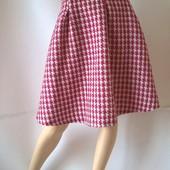 твидовая пышная женская юбка