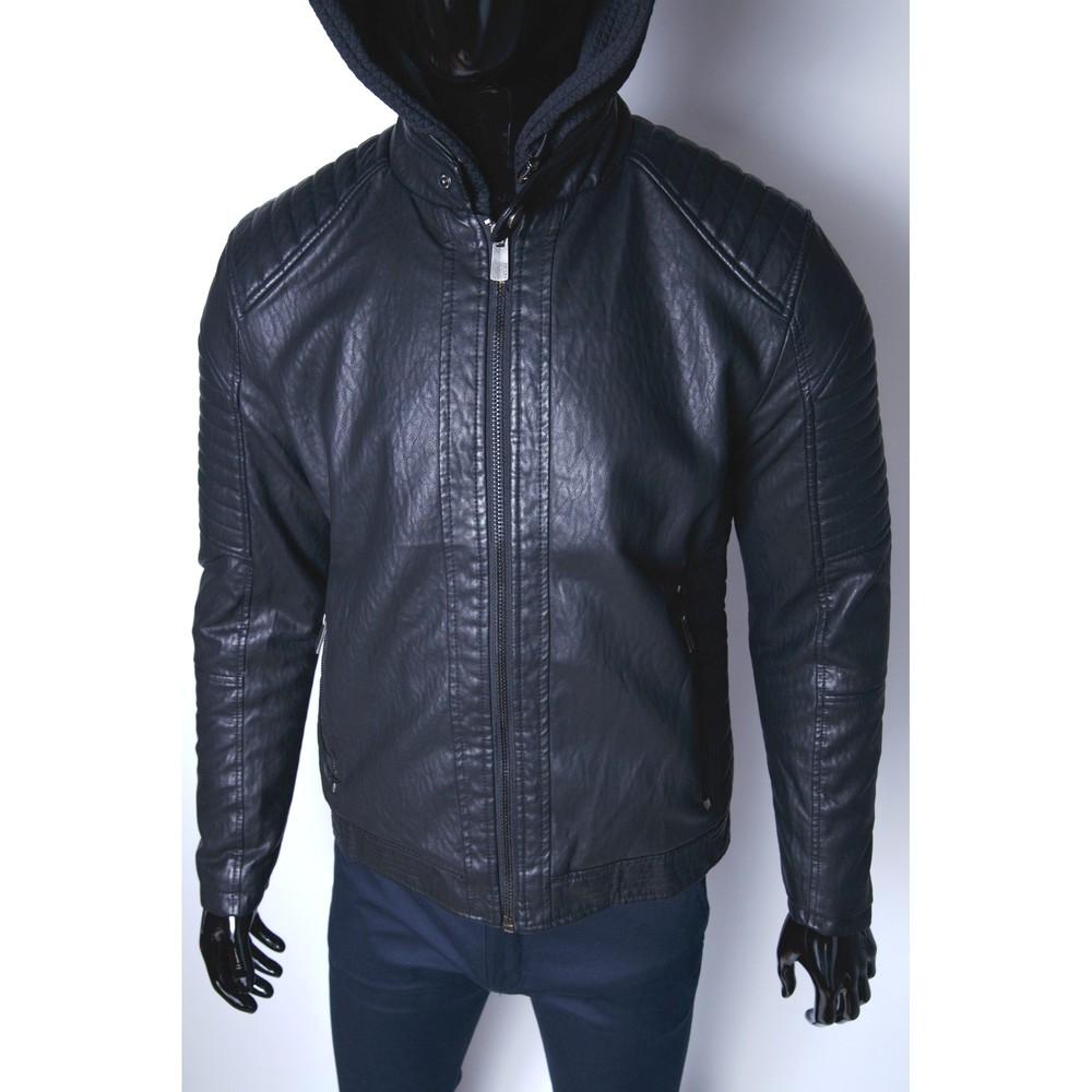 Кожаная куртка на мех подкладке качественный кож-зам фото №1
