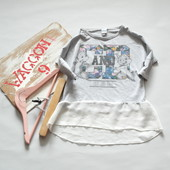 Лонгслив, топ, футболка Disney для девочки, 8-9 лет