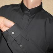 Стильная рубашка Slim Fit  серого цвета. S