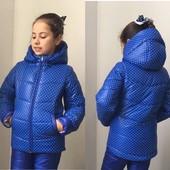 Модные теплые куртки на флисе  на осень-весну для девочек