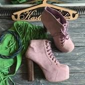 Замшевые ботинки\ботильоны Jeffrey Campbell оригинал р-р 37-38