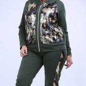 Размеры 48-56 Стильный женский спортивный костюм