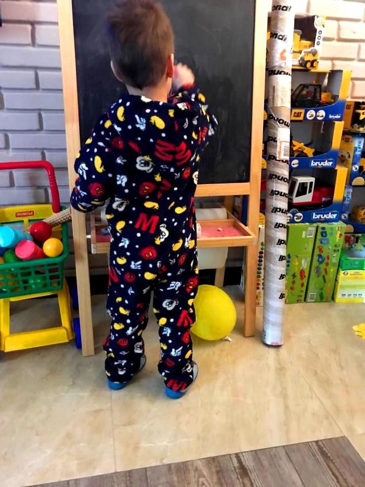 Пижама флисовая сдельная disney микки маус теплый слип для мальчика 2-7 лет  фото № 6c90433480602