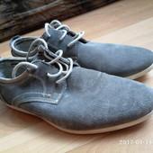 Мокасины-туфли мужские натуральный замш