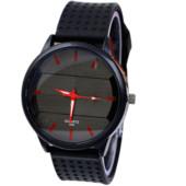 Наручные мужские часы с черным ремешком