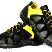 Мужские кроссовки черные с яркой вставкой (NZ-15)