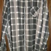 Рубашка тёплая очень большого р.xxxxxl Okay