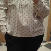 Вискозная блуза в мелкий принт Сlockhouse ( L )