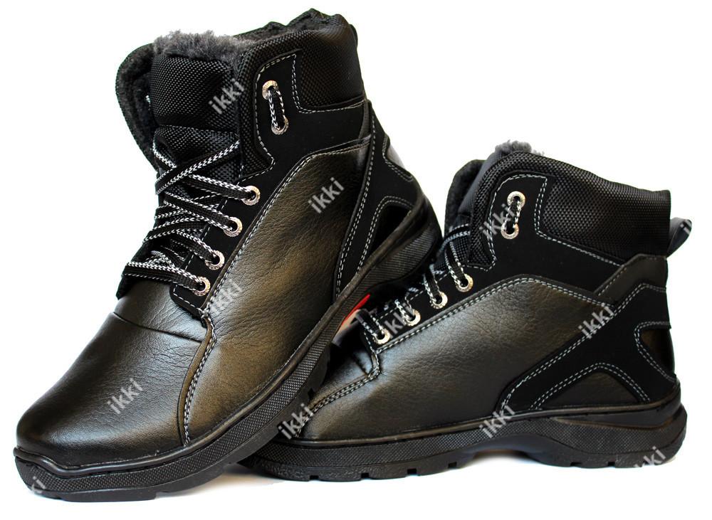 41 р Ботинки зимние мужские стильные и удобные ПЗ-30ч фото №1