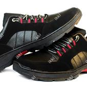 Мужские утепленные полуботинки кроссовки ПЗ-73ч